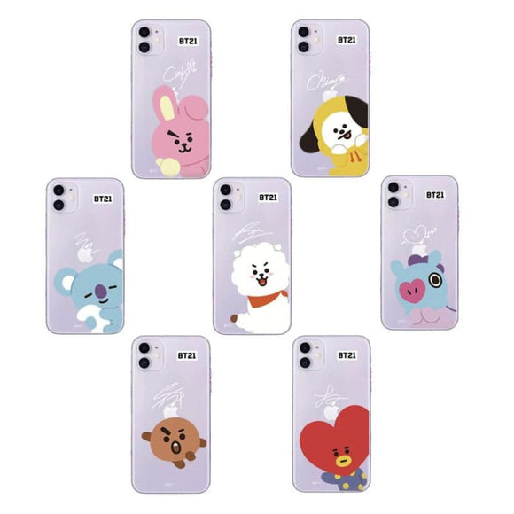 BTS BT21 iPhone 11 Transparent Shell Case - For Phone