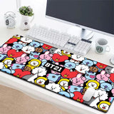 BTS BT21 Large Mouse Pad - Everyone Squeezes / 600mm x 300 mm - BT21