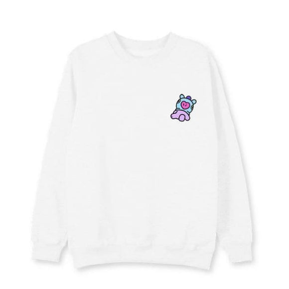 Bts Bt21 Mang Sweatshirt (3 Colors) - White / L - Sweatshirts