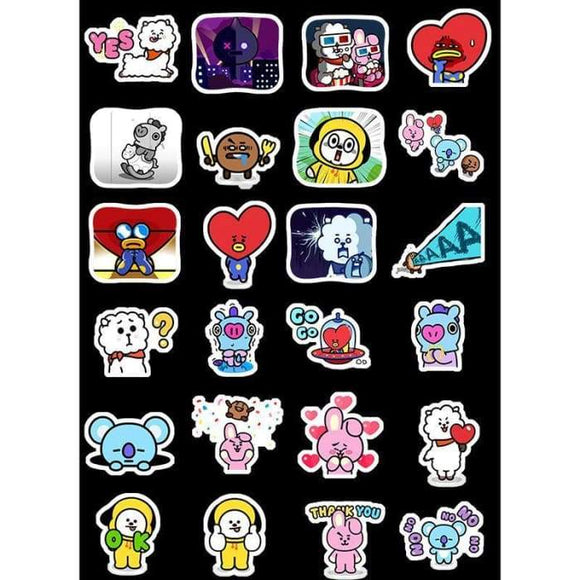 Bts Bt21 Member Painted Stickers - Stickers