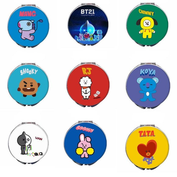 Bts Bt21 Mini Makeup Mirror - Accessories