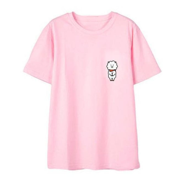 Bts Bt21 Rj T-Shirt (3 Colors) - Pink / S - T-Shirt