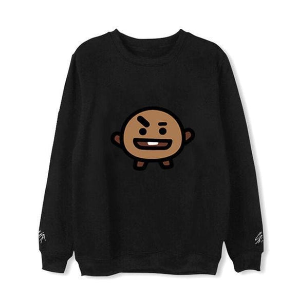 BTS BT21 Shooky Sweatshirt - Black / S - Sweatshirts