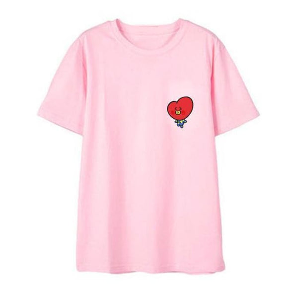 Bts Bt21 Tata T-Shirt (3 Colors) - Pink / S - T-Shirt