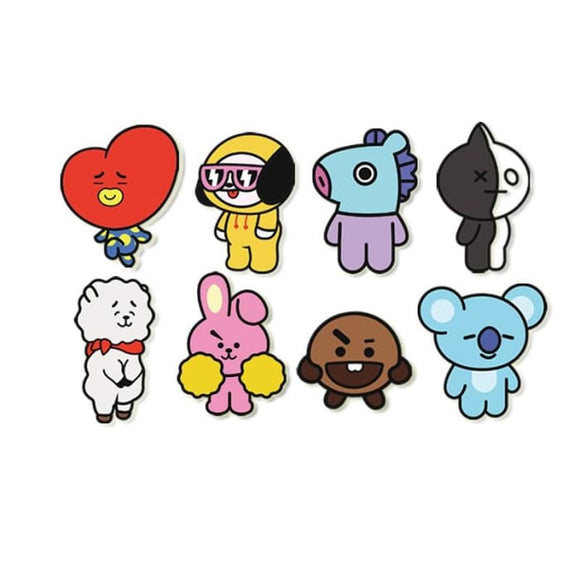 Bts Bt21 Theme Cute Brooch Badge - Badge