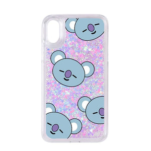 BTS BT21 Theme Glitter iPhone Case - BT21