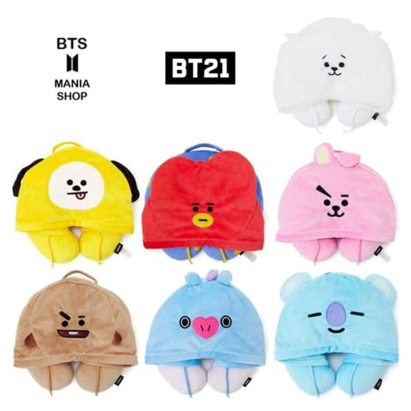 BTS BT21 Travel Neck Pillow Cushion - BT21