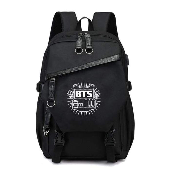 Bts Bulletproof Logo School Backpack - Bags