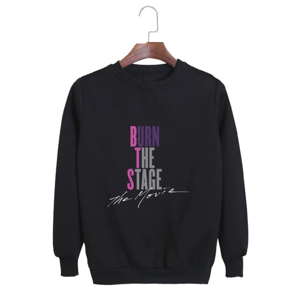 Bts Burn The Stage The Movie Classic Sweatshirt - Black / S - Sweatshirts