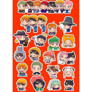 Bts Concert Cartoon Stickers - Stickers