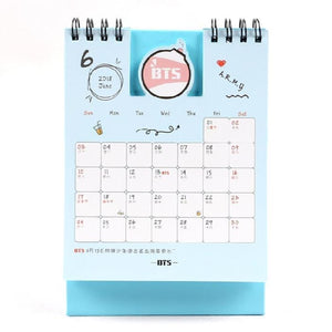 Bts Cute Sticky Note Calendar - Accessories