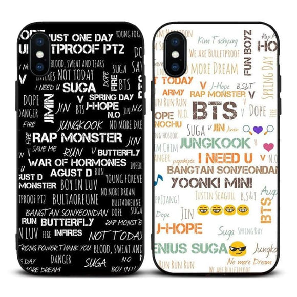 BTS Design Drawing iPhone Case (with xs max) - For Phone