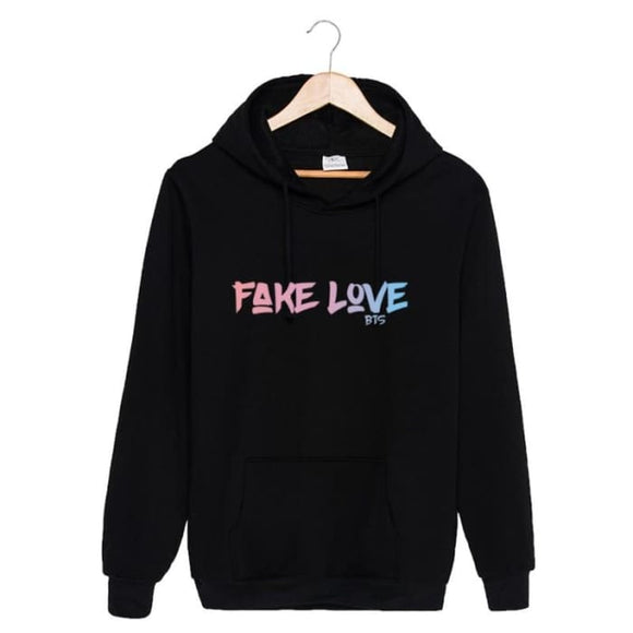 Bts Fake Love Classic Hoodie - Black / S - Hoodies & Jackets