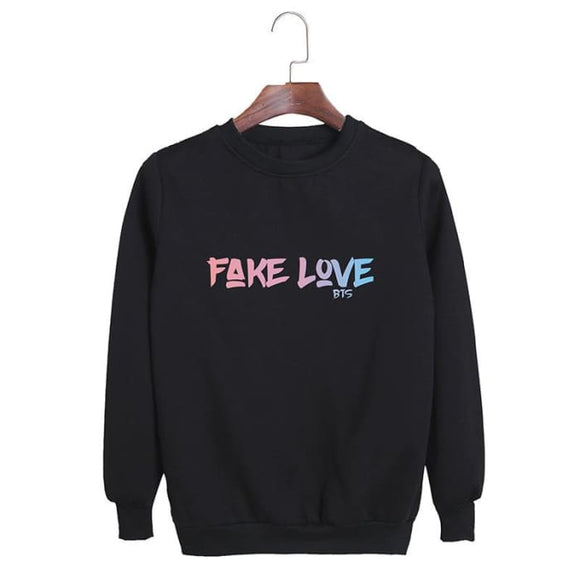 Bts Fake Love Classic Sweatshirt - Black / S - Sweatshirts