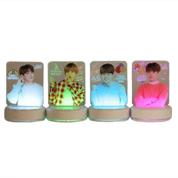 BTS Happy Birthday Wishing LED Plaque - Accessories