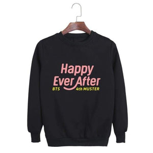 Bts Happy Ever After Classic Sweatshirt - Black / S - Sweatshirt