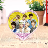 BTS Heart Design Glitter Crystal Frame - BTS - Lights - Accessories