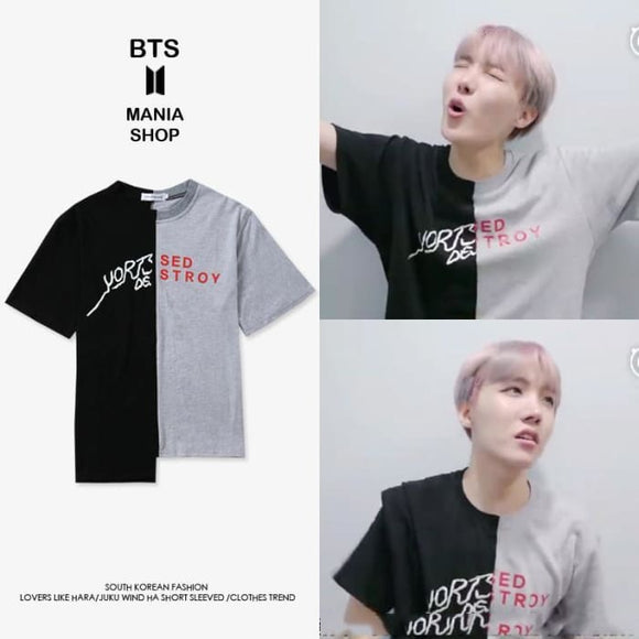 Bts Hobi Yortset Destroy T-Shirt - M / As In Picture - Bangtan Fashion