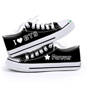 BTS I Love BTS Forever Low-Top Canvas Shoes - 35 - Shoes