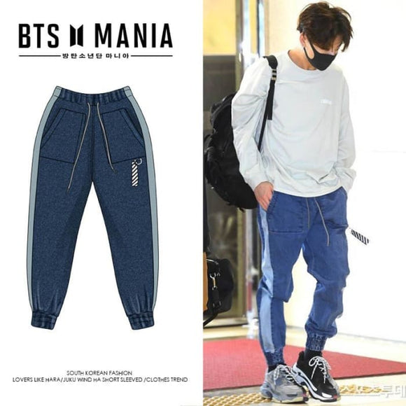 BTS Jeon Jeongguk Gimpo Airport Fashion Trousers - Bangtan Fashion