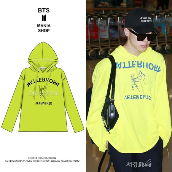 BTS Jimin Airport Fashion Hoodie - S - Bangtan fashion