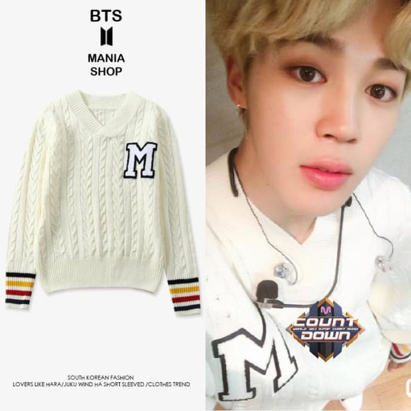Bts Jimin M Dna Performance Sweater - S - Bangtan Fashion