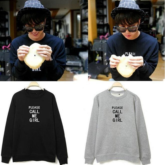 Bts Jin Please Call Me Girl Sweatshirt - Sweatshirts