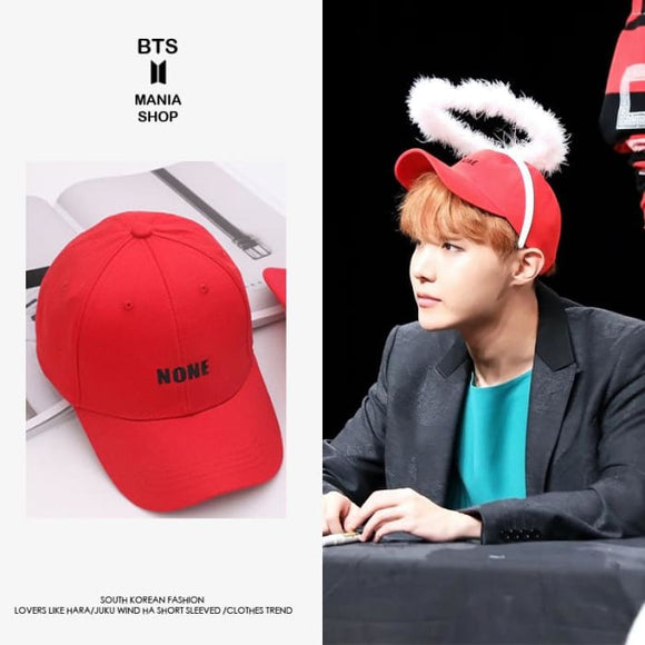 BTS Jung Hoseok NONE Red Cap - Bangtan fashion