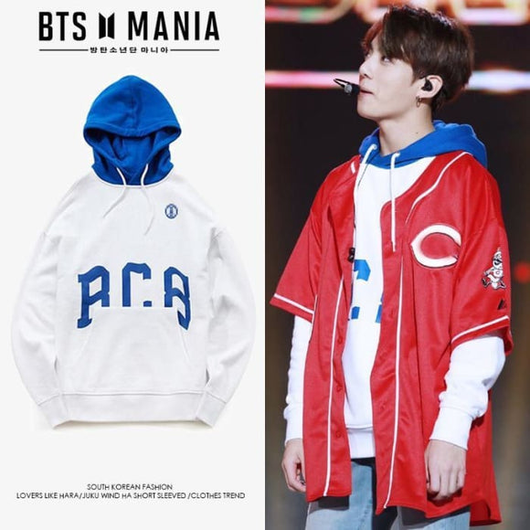 Bts Jungkook 1988 Born Champs Hoodie - Xxl / White - Bangtan Fashion