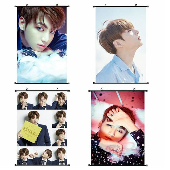 BTS Jungkook Hanging Canvas Poster - Poster