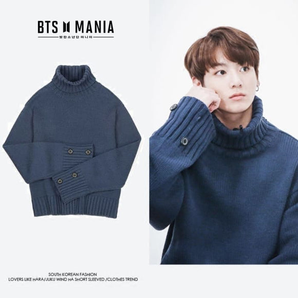 BTS Jungkook Winter Pullover Sweater - S - Bangtan Fashion