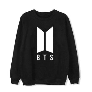 BTS Logo Members Classic Sweatshirt - Black / L - Sweatshirts