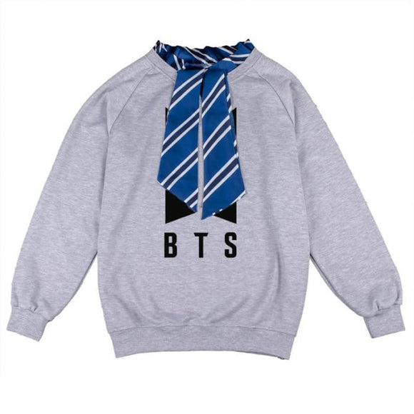Bts Logos Scarf Neck Sweatshirt - Official Logo - Sweatshirts