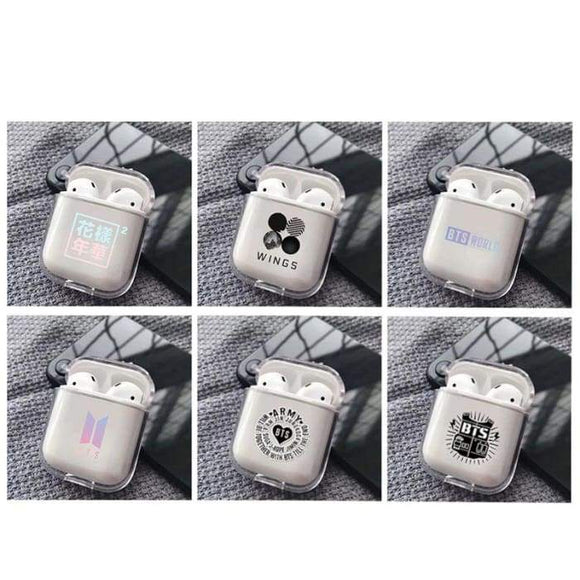 BTS Logos Transparent Airpods Case - Airpods