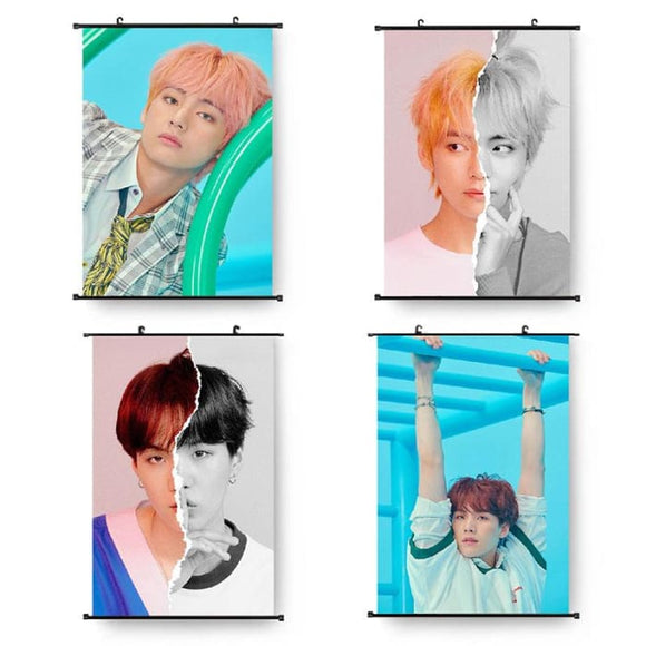BTS Love Yourself Answer Ver L F Hanging Canvas Poster - Poster