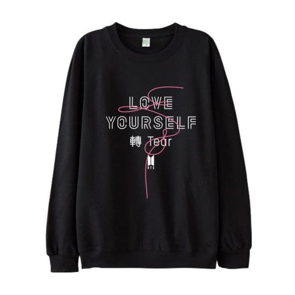 BTS Love Yourself Tear Classic Sweatshirt - Black / S - Sweatshirts