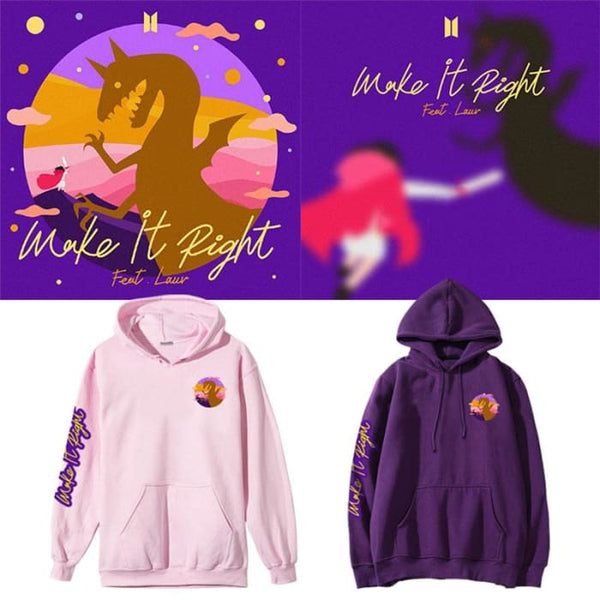 Bts Make It Right Ft Lauv Hoodie Bts High Quality Merchandise