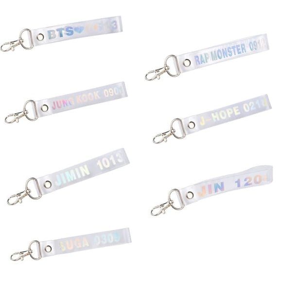 BTS Member Name Birth Phone Lanyard - Accessories