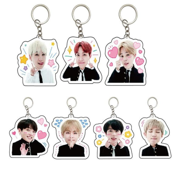 BTS Members Cutie Keyring - All 7 (20% OFF) - Accessories