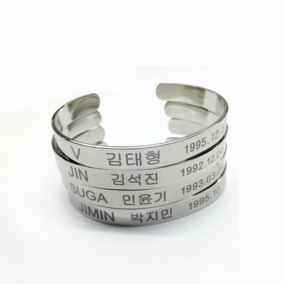 BTS Members Name Bracelet - Accessories