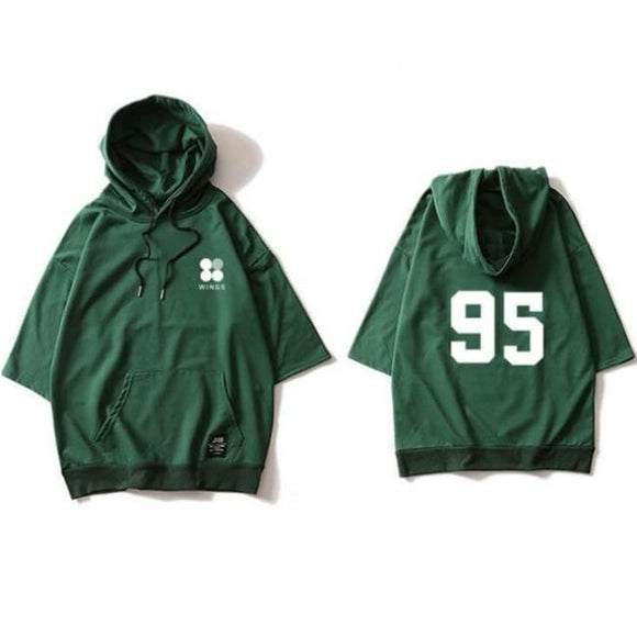 Bts Members Wings Spring Hoodie (Extra) - V Green / S - Hoodies & Jackets