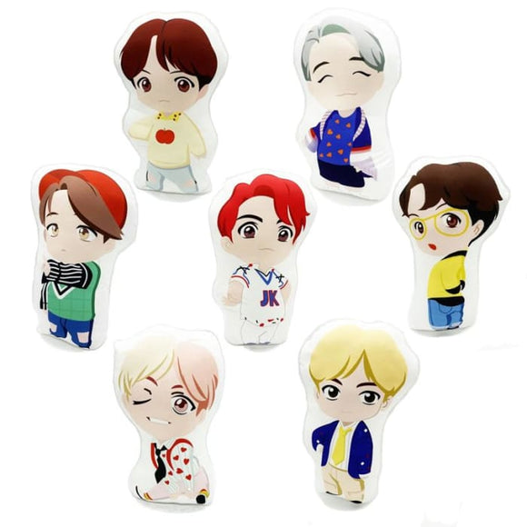 BTS Mini Doll Figure Printed Cushion - Set Of 7 (Save 20%) - Pillow
