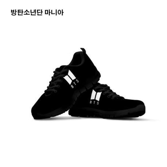 Bts New Logo Black Sneakers - 5 - Sneakers