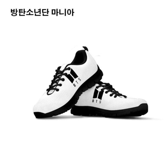 Bts New Logo White Sneakers - 5 - Sneakers