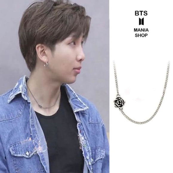 BTS RM Music Bank Rose Fashion Necklace - Fashion accessories