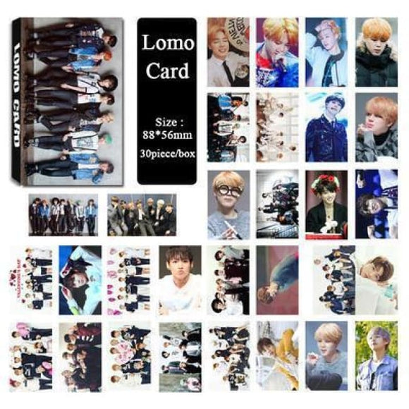 Bts Run Lomo Card (30Pcs) - Accessories