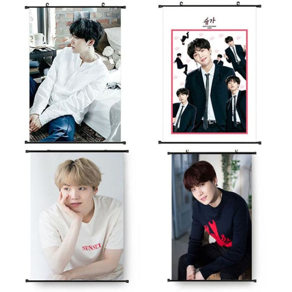 BTS Suga Hanging Canvas Poster - Poster