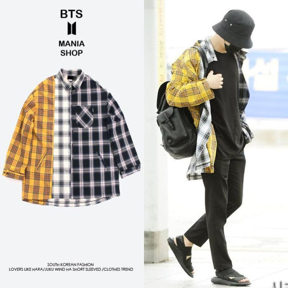 Bts Suga Oversized 3 Patterns Shirt - Bangtan Fashion