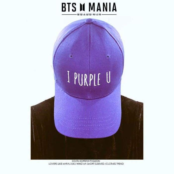 Bts Taehyung I Purple You Cap - Bangtan Fashion
