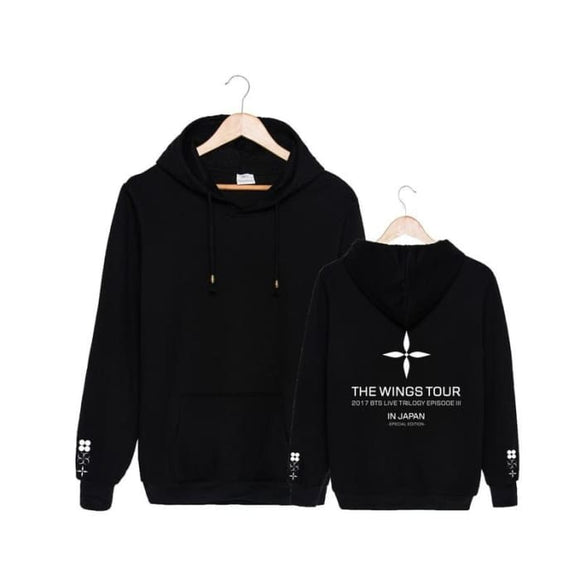 Bts The Wings Tour Japan Classic Hoodie - Black / S - Hoodie